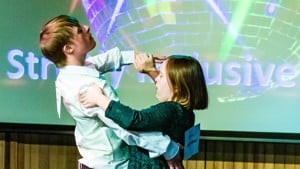 Andrew and Blythe dance in the Orpheuss own Strictly dance competition