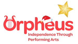 Orpheus Centre logo with festive decorations