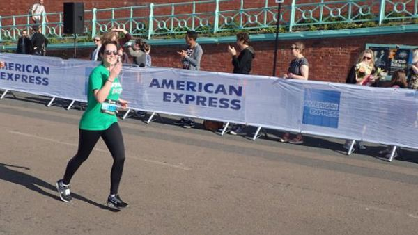 Daisy running the Brighton 10k